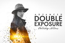 Advanced Double Exposure Ps Action by  in Plugins