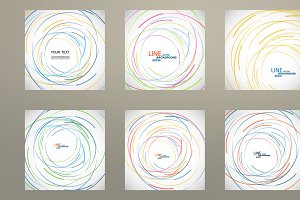Set vector color line twirl design