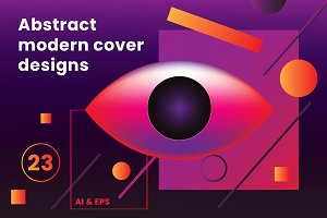 Abstract modern cover designs