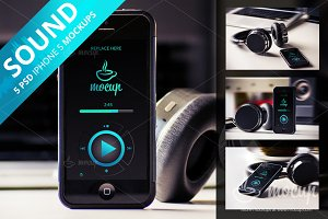 5 PSD iPhone 5 Mockups Sound