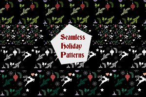 Holiday Patterns with Seamless Tiles
