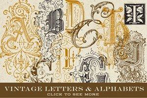 Vintage Vector Letters & Monograms