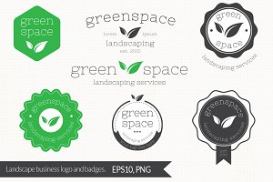 Landscaping Services Logo and Badges