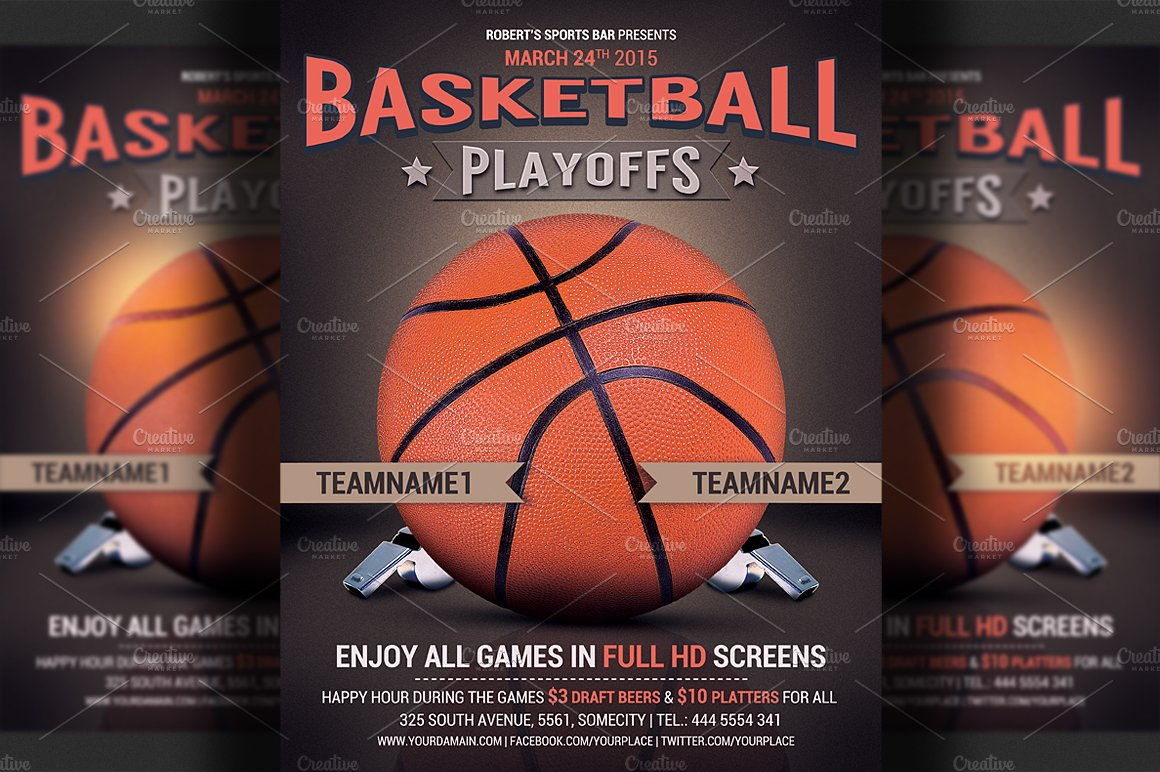 basketball flyer template flyer templates creative market