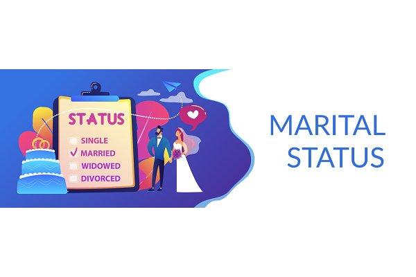 Relationship Status Concept Banner Pre Designed Vector Graphics Creative Market