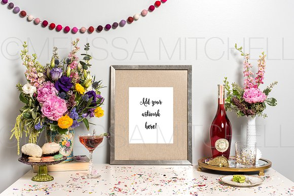 Download Celebration Frame Styled Mockup #35