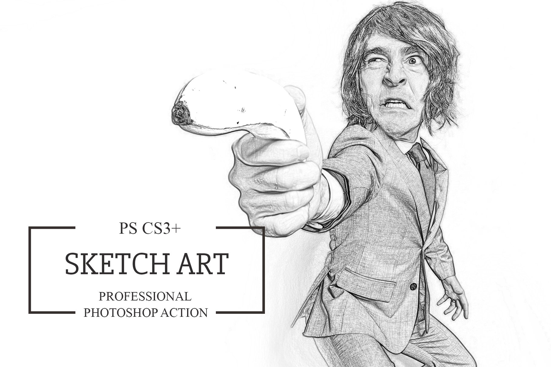 Sketch art photoshop action photoshop add ons creative market