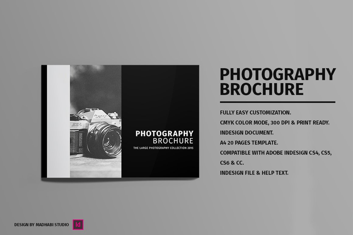 Minimal photography brochure brochure templates for Photography brochure templates free