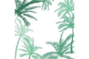 Vector Beautiful exotic tropical