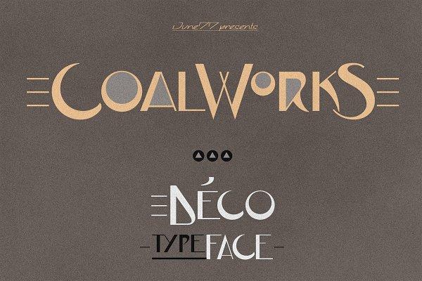 Display Fonts: Jvne77 - JVNE-CoalWorks - Art Deco Typeface