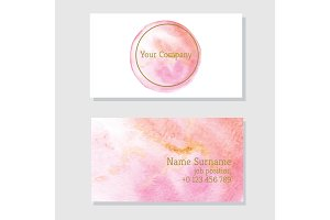 Business card Living Coral Color
