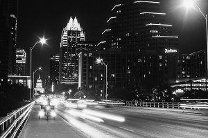 Downtown Night View in Austin