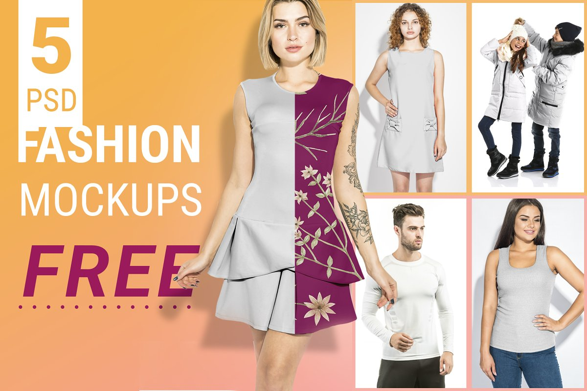 Fashion Mockups Free Download ~ Product Mockups ~ Creative Market