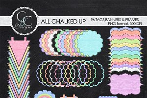 ALL CHALKED UP, 98 Elments/clipart