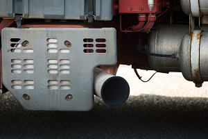 Exhaust  pipe of truck