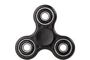 Black Fidget Spinner on white backgr