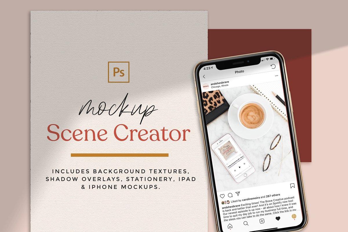 Modern Mockup Scene Creator in Scene Creator Mockups - product preview 8