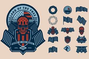 Americana Vector Set