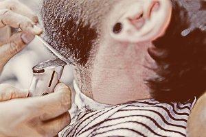 preparing a beard