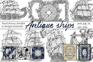 Antique ships collection