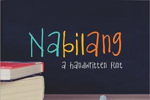 Nabilang - A Handwritten FOnt