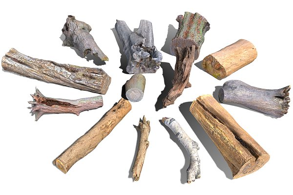 3D Models: Beatheart Creative Studio - 13 Tree Logs