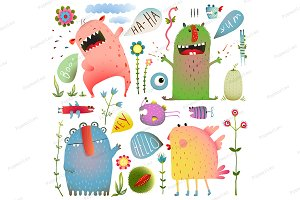 Fun Cute Monsters for Kids Design
