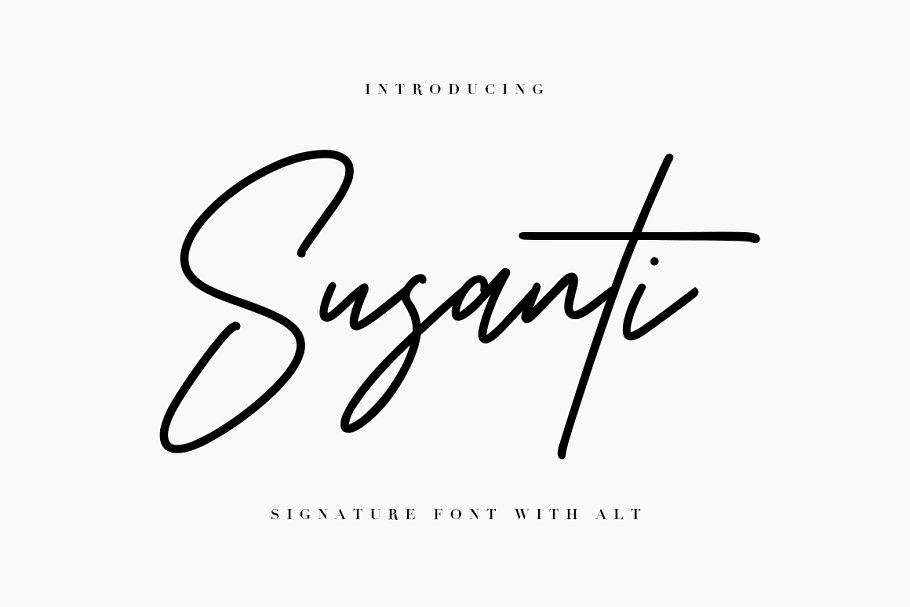 Susanti Signature Font
