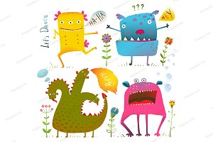 Fun Cute Kind Monsters for Children