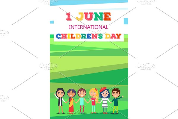 1 June Childrens Day Poster with