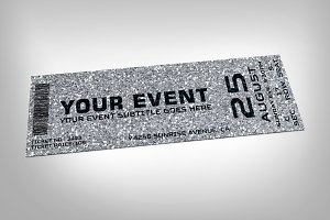 Silver event ticket