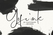 30 Gofe Ink Photoshop Brushes by  in Brushes