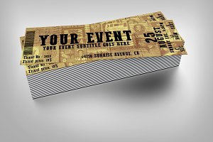 Old style event ticket