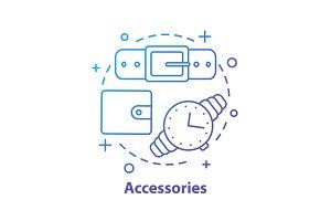 Fashion accessories concept icon