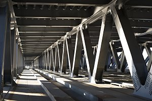 Metal bridge inside view