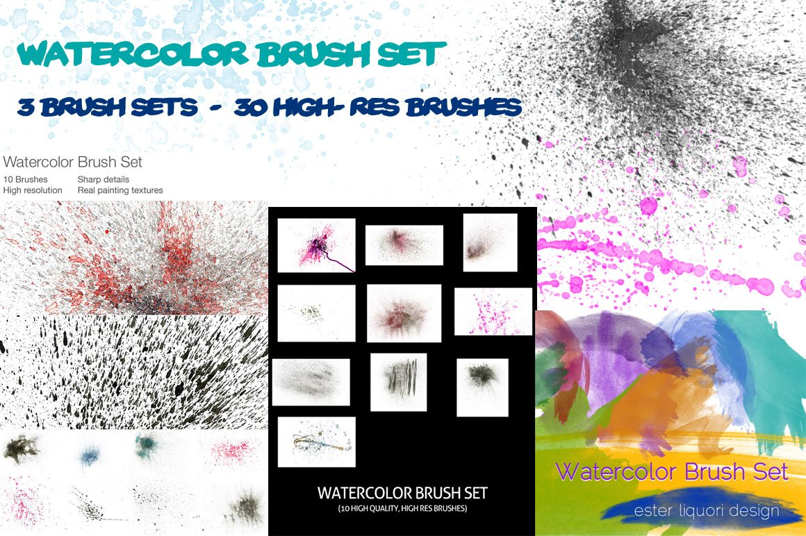 cover letter how to watercolor brush set mega bundle photoshop add ons 21120 | watercolorpreview