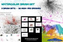 Watercolor Brush Set Mega Bundle