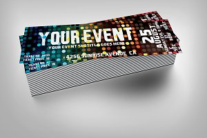 Disco event ticket