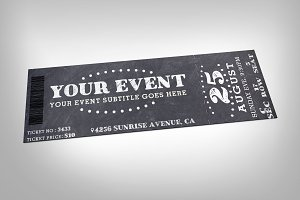 Chalkboard event ticket