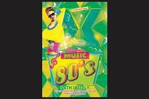 80's Music Flyer