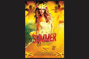 Dream Summer Party Flyer