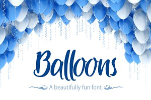 Balloons - A Beautifully Fun Font