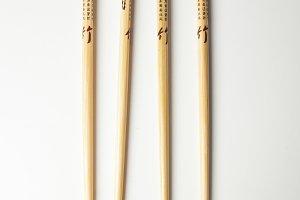 Chinese chopsticks. Concept of OCD.