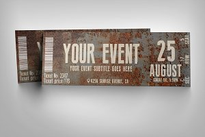 Rusty event ticket