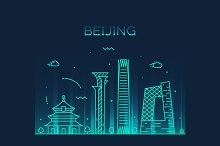 Beijing skyline (China)