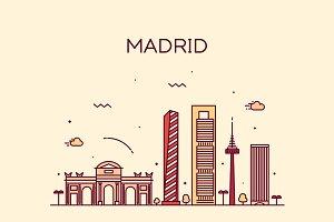 Madrid skyline (Spain)