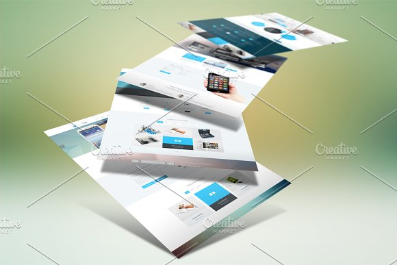 Download Website Display Mockup