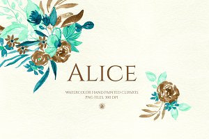 Alice - watercolor flowers