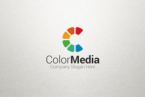C Letter Logo - Color Media