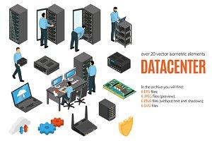 Datacenter Isometric Set